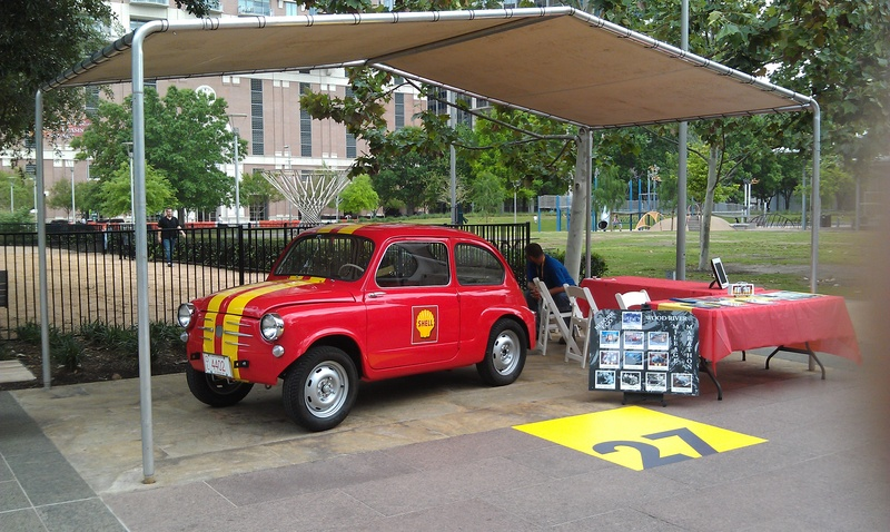Fiat display at the Eco-Marathon